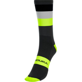 Endura Bandwidth Stripe Socken Herren grau/gelb